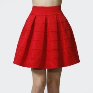 EXPRESS Medium Red Skater Skirt